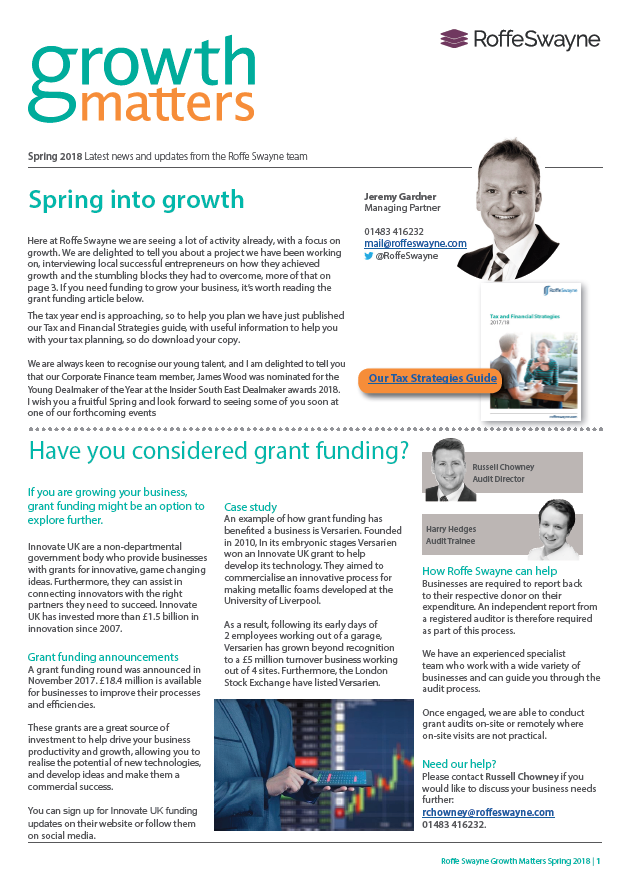 Growth matters Spring 2018