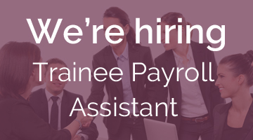 job vacancy Trainee Payroll Assistant