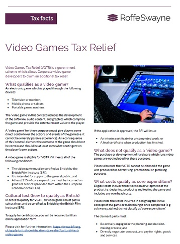 video games tax relief thumbnail